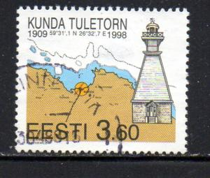 Estonia Sc 338 1998 Kunda Lighthouse stamp used