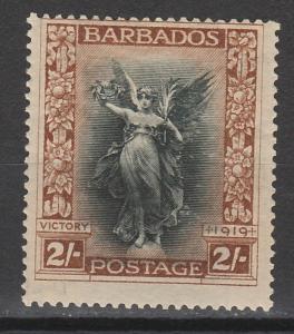 BARBADOS 1920 VICTORY 2/-