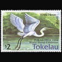 TOKELAU 1994 - Scott# 194 White Heron Set of 1 NH