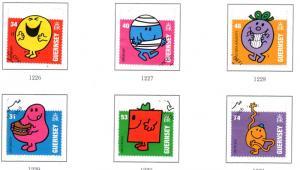 Guernsey Sc 985-0 2008 Mr Men & Little Miss stamp set used