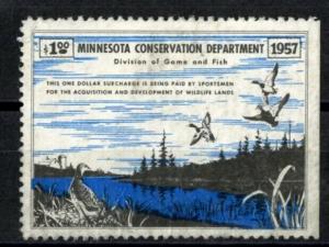 US Stamps # A1 Minnesota scarce VF OG HINGED