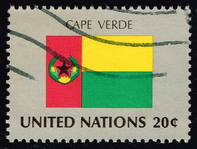 UN New York #386 Flag of Cape Verde; Used (0.25)