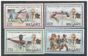 Malawi 1992 Olympic Games - Barcelona, Spain. MNH