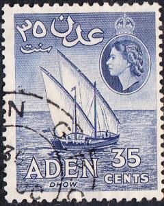 Aden #52b Used    p.12.5x13.5