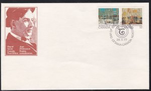 Canada # 734a, Landscapes by Tom Thompson, First Day Cover