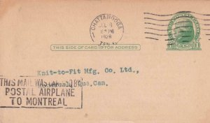 1928, Chattanooga, TN to Montreal, Ont., 1c Postal Card, See Remark (41942)