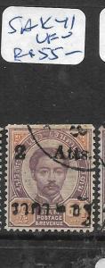 THAILAND (P0407B) RAMA 5  2A/64A   SAK  41    VFU