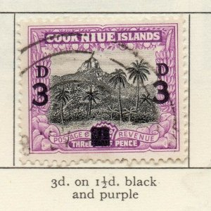 Niue 1940-46 GVI Early Issue Fine Used 3d. Surcharged NW-156430