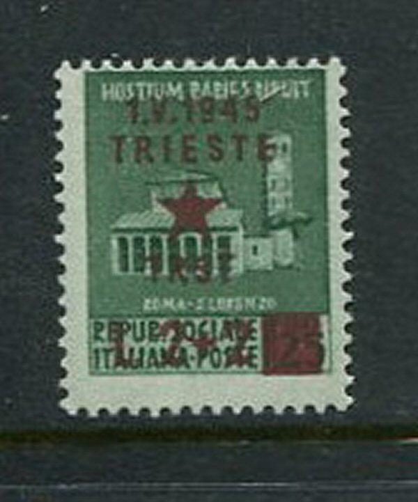 Italy Trieste Unlisted Scott Sassone #7 Mint Hinged