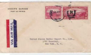 republic of haiti 1937 air mail stamps cover ref r14892