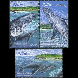 NIUE 1997 - Scott# 695-700 Whales 1st Issue Set of 3 NH