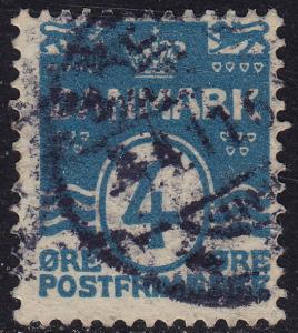 Denmark - 1905 - Scott #60 - used - Numeral