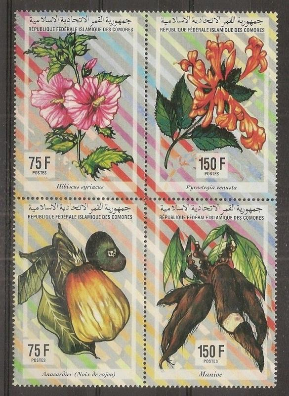 Comoro Islands 1994 Plants MNH