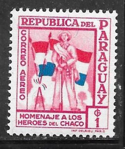 Paraguay C238: 1g Soldiers and Flags, MNH, VF