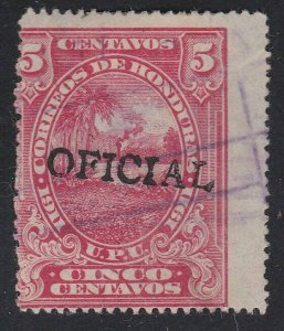HONDURAS  An old forgery of a classic stamp  - fake OFFICIAL................D952