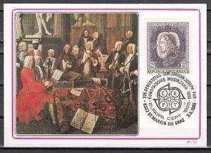 Austria, Scott cat. 1311. Composer Johann Fux, Maximum Card. *
