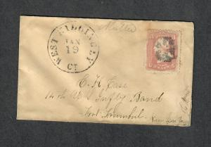 West Killingly CT DPO 5 Union Civil War Cover Sc#65 14th Inf Band Dt. Trumbull