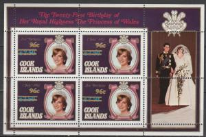 Cook Is #739 MNH Mini-sheet CV $15.50 (S7325L)