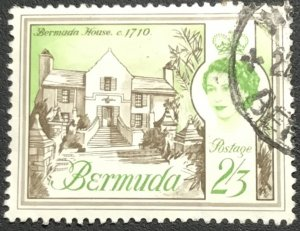 Bermuda #187 Used Single Writing on back Bermuda House L21