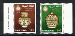 11978 - Morocco -Maroc - Blind Week - Potery -Complete set 2v.MNH**
