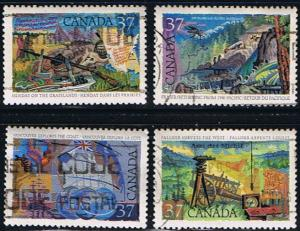 Canada #1199-1202 Exploration VF Used Set