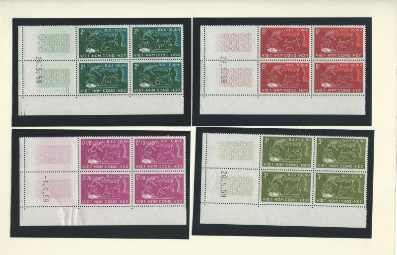 Vietnam  150-153  Blk of 4 w/number tabs  MNH