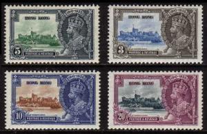 Hong Kong SC#147-150 Silver Jubilee set of four (1935) MNH