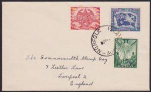 NORFOLK IS 1947 cover - Australia Peace set - Norfolk cds..................67286