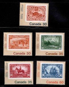 Canada Scott 909-913 MNH**  stamp on stamp set