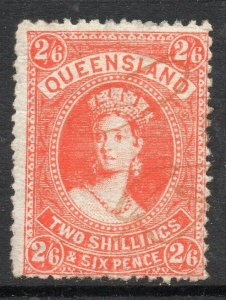 Queensland: 1882 QVI 2/6 SG 153 used (fiscally?)