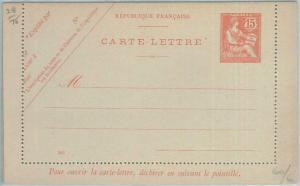 77413 - FRANCE - Postal History - STATIONERY LETTER CARD  Storch  # E1 date 245