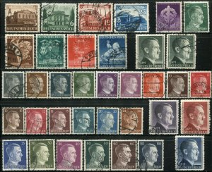 GERMANY #498-529 Deutsches Reich WWII Stamps Postage Collection Used