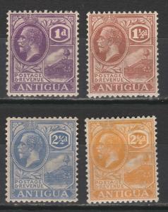 ANTIGUA 1921 KGV BADGE RANGE TO 21/2D WMK MULTI SCRIPT CA