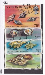 VIRGIN ISLANDS # 274-277 VF-SON TOWN DATED CANCELS