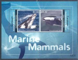 CANOUAN 2012 MARINE MAMMALS ELEPHANT & HARBOR SEAL SEA OTTER SEA LION SHEET NH