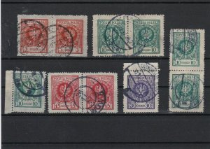 Poland 1924 New Currency Used Stamps Ref 30452