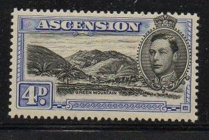 Ascension Sc 44B 1944 4d Green Mountain stamp mint