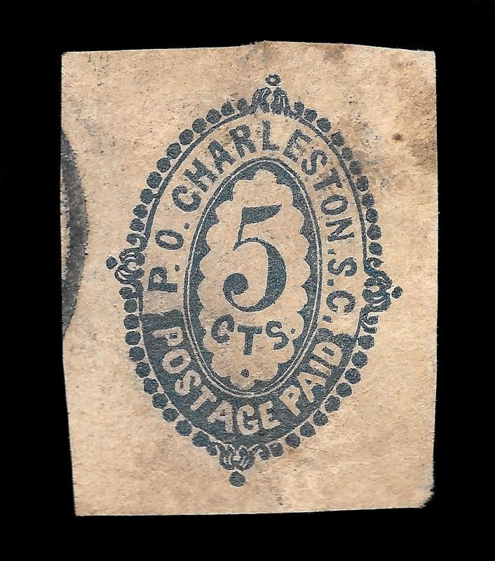 WCstamps: CSA Scott #16X41 / $2750 - 5c Charleston, Used, VF