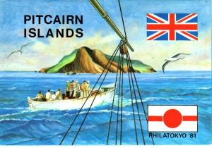 PITCAIRN ISLAND. 1981 POP Philatokyo 81....FREE LOCAL POSTAGE