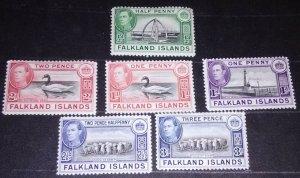 Falkland islands King George VI of 1938