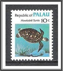 Palau #12 Hawksbill Turtle MNH