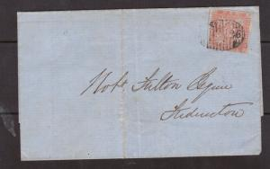 New Brunswick #1 VF Used On Cover With Ideal 26 Numeral Grid Cancel *With Cert