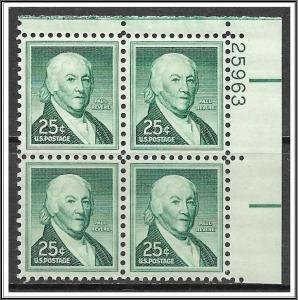 US Plate Block #1048 Paul Revere Liberty Series MNH
