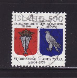 Iceland 520 Set U Coat of Arms (A)