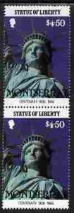 Montserrat 1986 Statue of Liberty Centenary $4.50 similar...