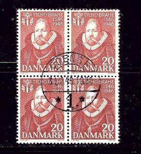 Denmark 300 Used 1946 block of 4