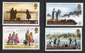 Tristan da Cunha  #185-188  1973  MNH anniversary return to the islands