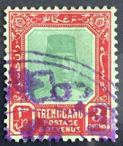 MALAYA 1921-41 TRENGGANU Sultan Suleiman $3 Used MCCA SG#24 M2863