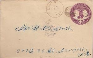 United States Florida Dixon 1894 target  1888-1894  2c Columbian Envelope.
