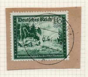 1944-45 GERMANY used in LUXEMBOURG Fine Used 16p. Postmark Piece 241820
